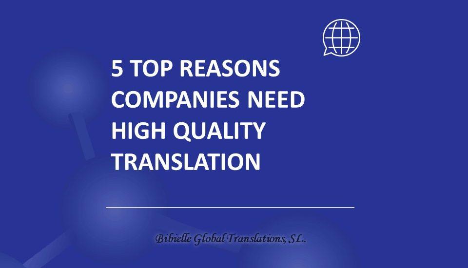 High quality translations
